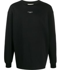 drôle de monsieur new york printed sweatshirt - black