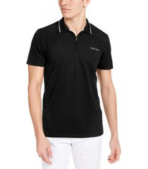 men's move 365 zip polo shirt