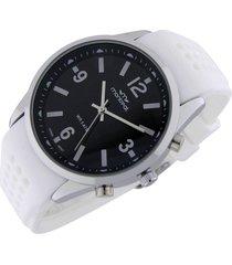 reloj blanco montreal caucho