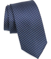 men's nordstrom aberlin micro neat silk tie, size regular - blue