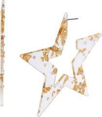 betsey johnson celestial star hoop earrings