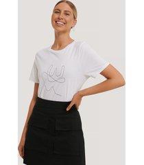 na-kd line t-shirt - white