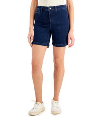 charter club petite bermuda jean shorts, created for macy's