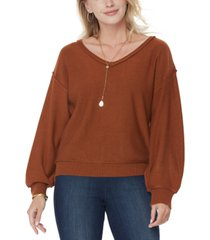 nydj dolman-sleeve v-neck sweater
