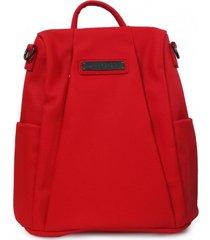 mochila casual rojo detogni