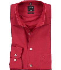 olymp luxor modern fit overhemd rood