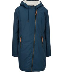 giacca foderata con pellicciotto sintetico (blu) - bpc bonprix collection