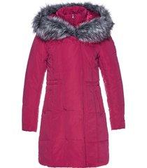 giacca lunga con ecopelliccia (fucsia) - bpc selection