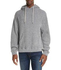 men's john elliott boucle wool blend beach hoodie