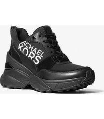 mk sneaker mickey in pelle - nero (nero) - michael kors