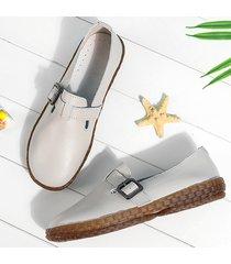 scarpe piatte casual confortevoli in pelle decorazione fibbia