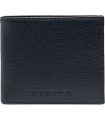 emporio armani billfold leather wallet - blue