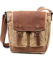tsd brand turtle ridge 4-pocket canvas crossbody bag