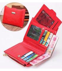 donna borsetta elegante in pelle composita con zip portafoglio portamonete