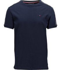 rn tee ss t-shirts short-sleeved blå tommy hilfiger