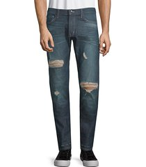 slim straight distressed jeans
