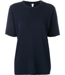 extreme cashmere short-sleeve fitted sweater - blue
