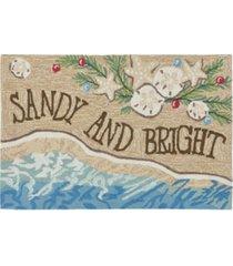"liora manne front porch indoor/outdoor sandy & bright sand 2'6"" x 4' area rugs"