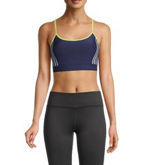 splendid women's crisscross sports bra - peacoat - size xs