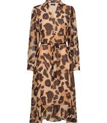 slfganza ls long midi dress ex jurk knielengte multi/patroon selected femme