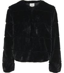 abrigo jacqueline de yong negro - calce regular