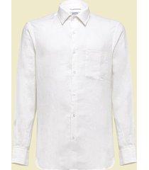 aspesi camicia in lino bianco