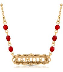 2028 beaded amor necklace