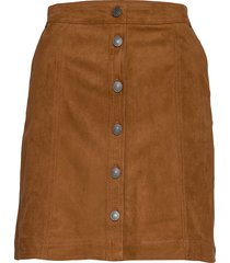 mini skirt kort kjol brun abercrombie & fitch