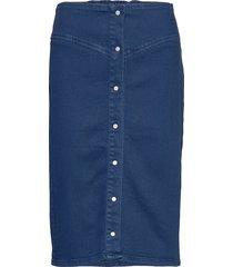 bertha long skirt 11492 knälång kjol blå samsøe samsøe