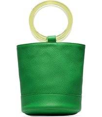 simon miller lime green bonsai 20 bracelet handle leather bucket bag