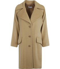 red valentino mid-length buttoned coat