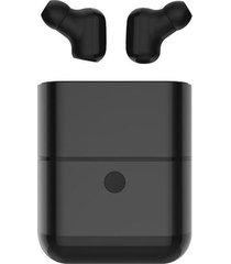 audífonos inalámbricos bluetooth con micrófono y caja de carga - negro
