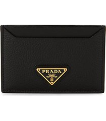 phenix logo pebbled-leather card holder