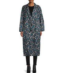 floral oversized coat
