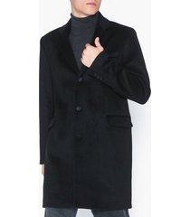 topman black overcoat with wool jackor black