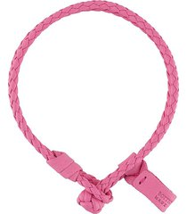 bottega veneta woven leather bracelet - pink