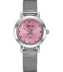 cinturino in maglia fine acciaio inossidabile con quadrante sottile per orologi da donna