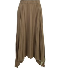 antonelli long asymmetrical pleated skirt