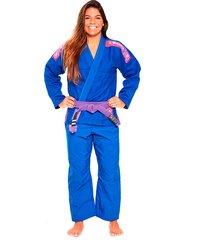 kimono jiu jitsu atama trançado ultra light 2.0 feminino - azul