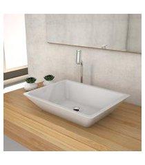 cuba de apoio para banheiro compace messina rt45w retangular branca