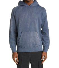 men's visvim jumbo uneven dye pullover hoodie