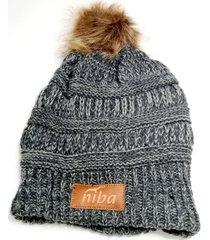 gorro de lana ruiles gris niba