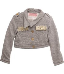jaqueta moletom bordado infantil
