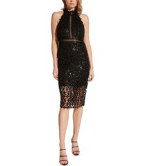 bardot gemma sequined sheath dress