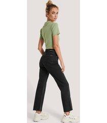 calvin klein jeans med rak passform - black