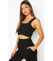basic square neck crop top