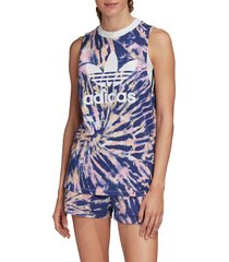 women's adidas originals loose tie dye tank