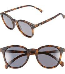 le specs 'bandwagon' 51mm polarized sunglasses in matte tort/smoke mono polar at nordstrom