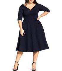 plus size women's city chic cute girl dress, size large - blue