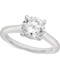 certified diamond solitaire engagement ring (2 ct. t.w.) in 18k white gold